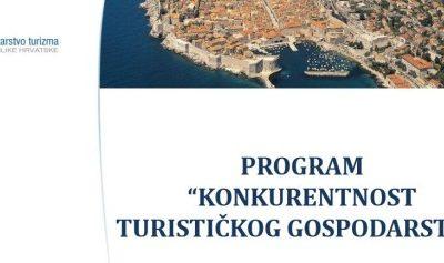 """Objavljeni rezultati natječaja """"Konkurentnost turističkog gospodarstva"""""""