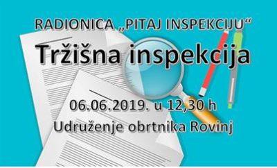 """Radionica za obrtnike """"PITAJ INSPEKCIJU – Tržišna inspekcija"""""""