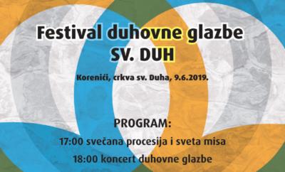 Blagdan Duhova i koncert duhovne glazbe u Korenićima