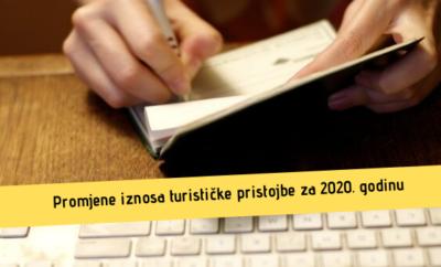 Odluka o visini turističke pristojbe za 2020. godinu