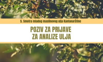 Prijave za analize maslinovog ulja – poziv